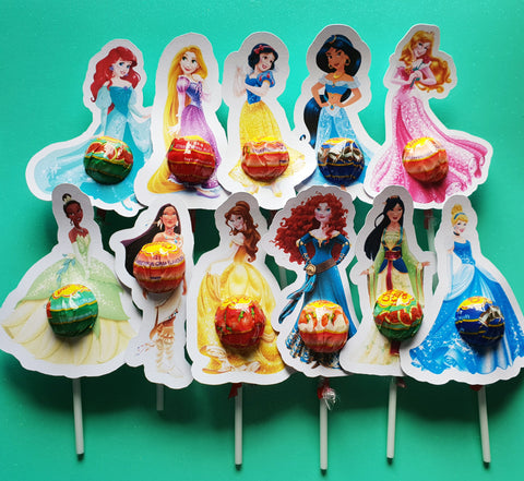 Princesses mixed pack- Lollipop Holders