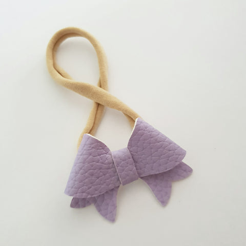 "Light Mauve / Purple ""BELLA"" Style Bow Headband"