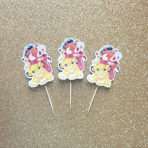 Lion King - Cupcake Toppers
