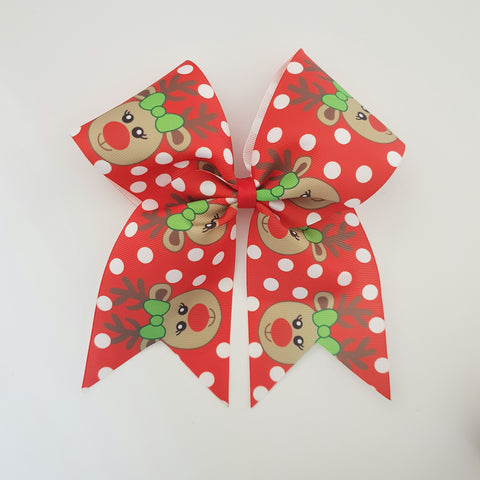 "Reindeer ""O.T.T. CHEER"" Style Bow"