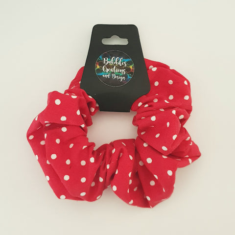Red and White Polka Dots - Scrunchie