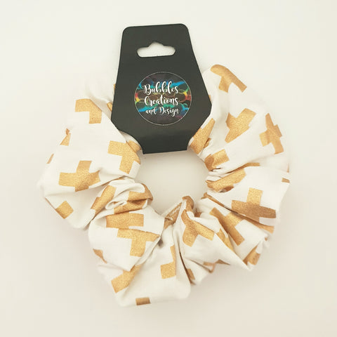 Gold Crosses - Scrunchie