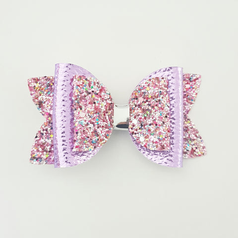 "Pink and Purple ""Lux Maria"" Style Bow"