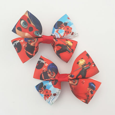 Miraculous Ladybug RIBBON HAIR CLIPS