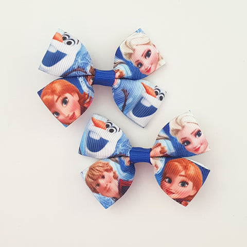 Frozen & Olaf RIBBON HAIR CLIPS