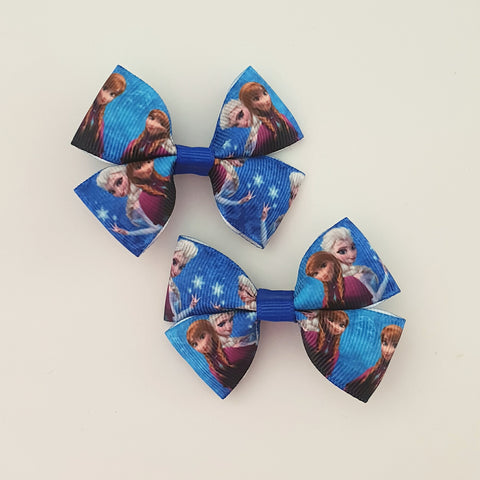 Frozen RIBBON HAIR CLIPS