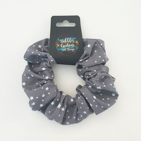 Grey and White Stars - Scrunchie