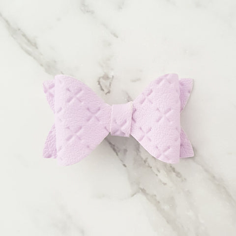 "Purple/mauve Crosses ""EVIE"" Style Bow"