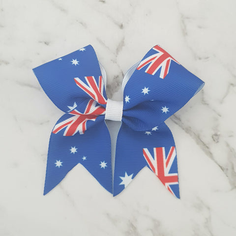Australian Flag MINI Cheer Bow