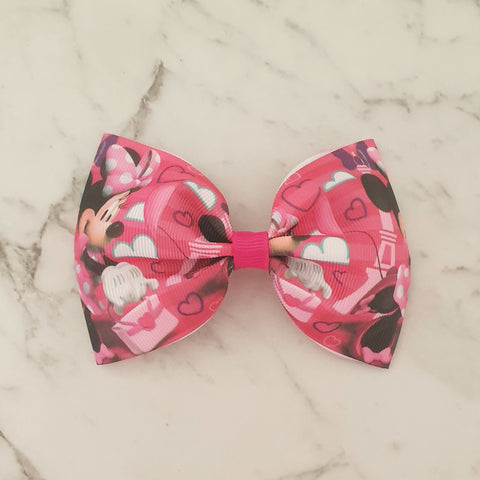 "Minnie Mouse ""Tux"" Style Bow"