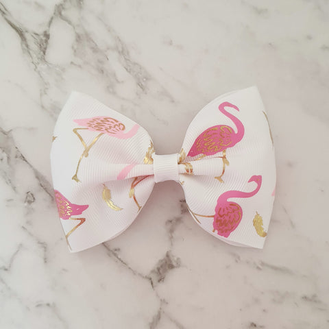 "Flamingoes ""Tux"" Style Bow"
