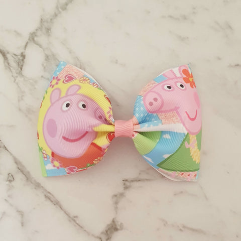 "Peppa Pig ""Tux"" Style Bow"