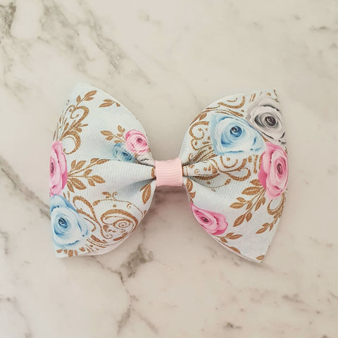 "Floral ""Tux"" Style Bow"
