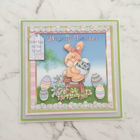 Easter Bunny and Eggs Card