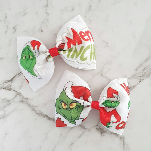 "The Grinch ""Tux"" Style Bow"
