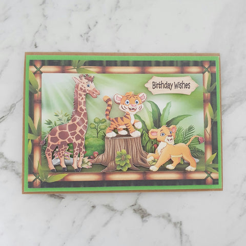 Safari Animals - Birthday Card