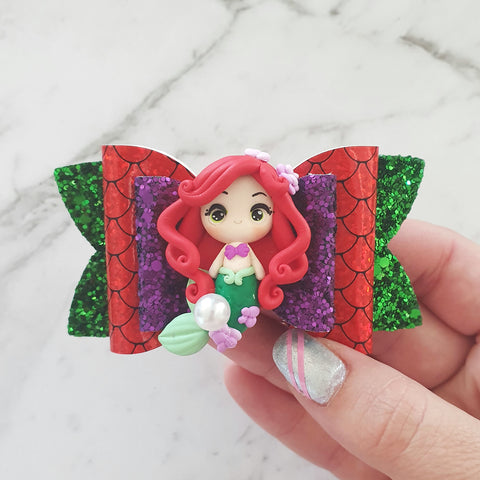 Ariel the Mermaid -Clay Bow