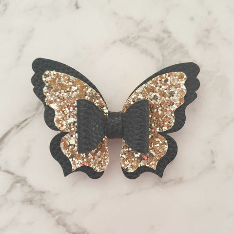 Gold & Black Butterfly Bow