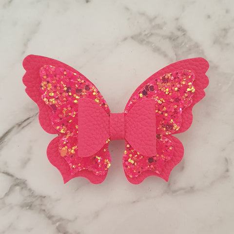 Hot Pink Butterfly Bow