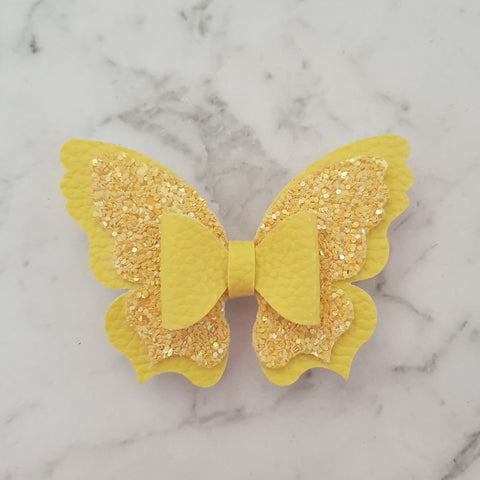 Yellow Butterfly Bow