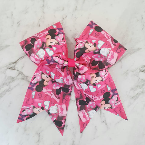 "Minnie Mouse ""O.T.T. CHEER"" Style Bow"