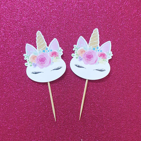 Unicorn Face - Cupcake Toppers