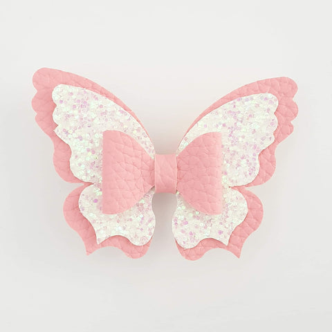 Light Pink and White Butterfly (centre bow) Style Bow