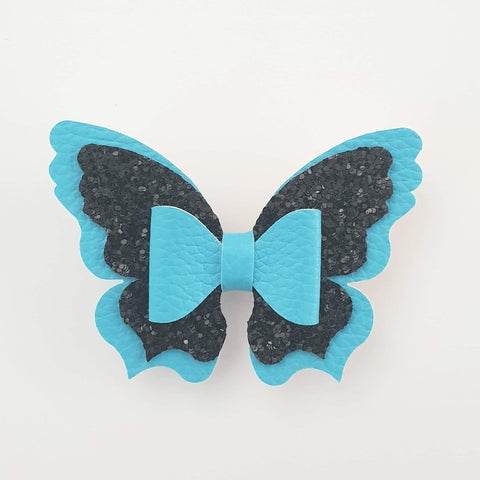 Blue and Black Butterfly (centre bow) Style Bow