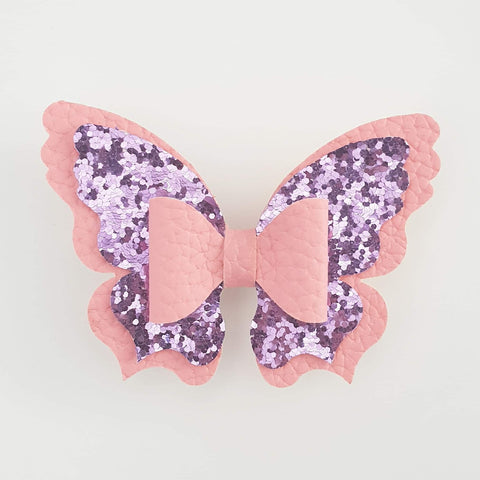 Pink and Mauve Butterfly (centre bow) Style Bow