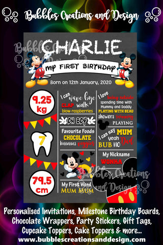 Mickey Mouse - Birthday Board Design