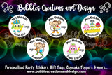 Personalised Teacher Stickers - Monkeys & Owls
