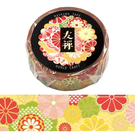 washi tape chrysant