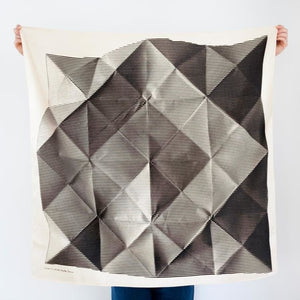 Furoshiki folded paper black by Link Collective