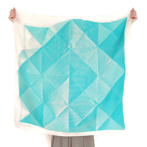Furoshiki folded paper aqua by Link Collective