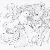 Pop manga mermaids and other sea creatures Camilla d'Errico