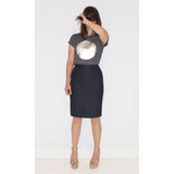 Dames t-shirt korte mouw silver moon medium fit