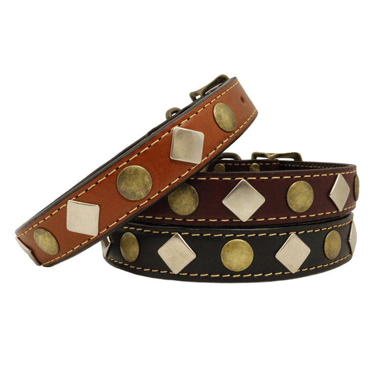 Heirloom Studded Dog Collar