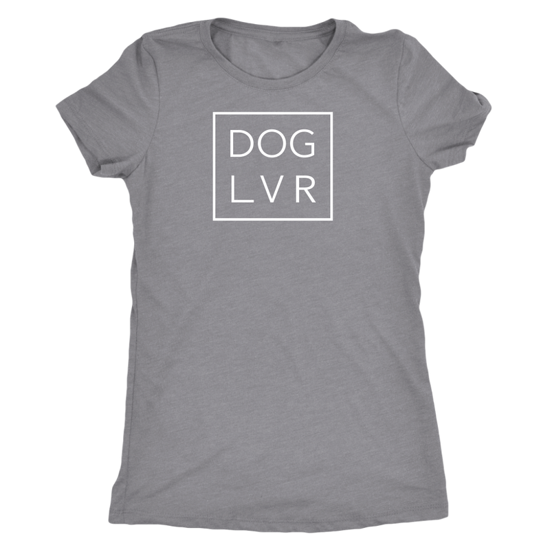 DOG LVR LADIES TRIBLEND TEE - Flying Dog Collars