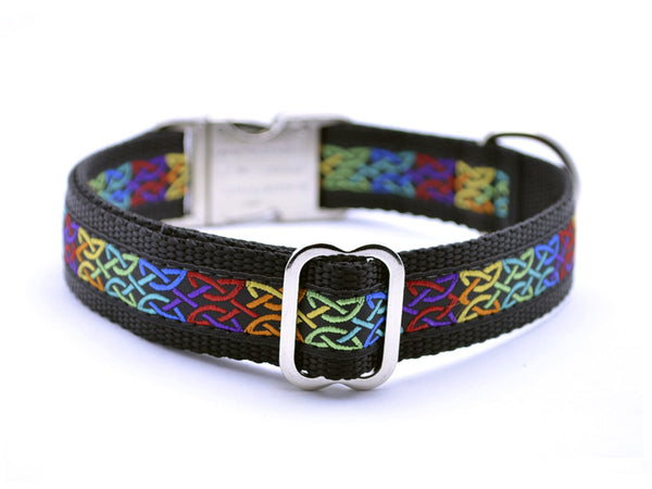 Celtic Knots Dog Collar with Personalized Buckle - Flying Dog Collars