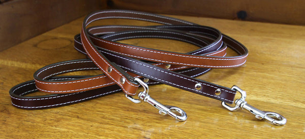 Bridle Leather Leash - Flying Dog Collars
