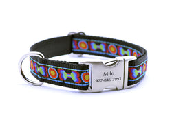 Funkadelic Bones Dog Collar with Personalized Buckle - Flying Dog Collars
