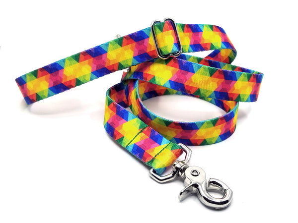Kaleidoscope Polyester Webbing Adjustable Handle Leash