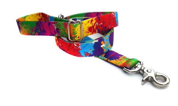 Paint Splatter Adjustable Handle Leash