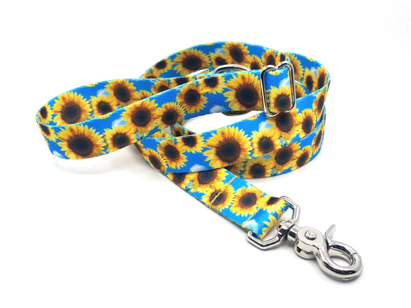 Sunflowers Polyester Adjustable Handle Leash