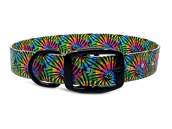 Tie Dye Stripes Waterproof Collar