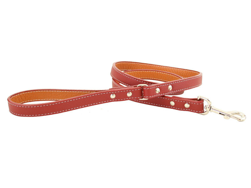 Italian Leather Leash - 11 Colors - Flying Dog Collars