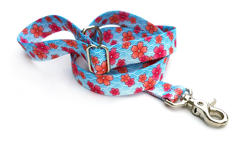 April Blossoms Pink Polyester Adjustable Handle Leash