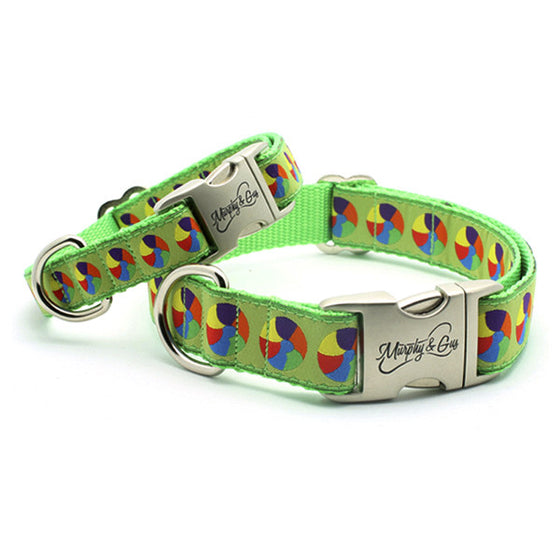At The Beach Designer Dog Collar - Flying Dog Collars
