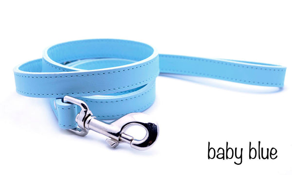 Leather Dog Leash with Personalized Nameplate - Flying Dog Collars