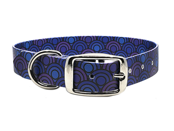 Blue Circles Waterproof Collar